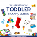 The Ultimate List of Toddler Stocking Stuffers! Stocking stuffers, toddler stockings, stockings for toddlers, stocking ideas for toddlers, toddler stocking stuffer ideas, stocking stuffers for kids, stocking fillers, stocking stuffers, stocking stuffers under $15, cheap stocking stuffers, good stocking stuffers, quality stocking stuffers, Christmas toddler ideas, gifts for toddlers, Christmas gift ideas for toddlers, stocking stuffer ideas for 2 year olds, stocking ideas for 3 year olds, stocking ideas for 18 month old, stocking stuffers for babies, stocking stuffers from Amazon, Amazon stocking stuffers, best stocking stuffers for kids, ultimate list of stocking stuffers.